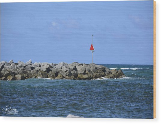 Jupiter Jetty Wood Print