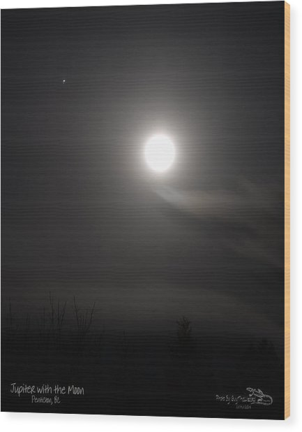 Jupiter With The Moon Wood Print