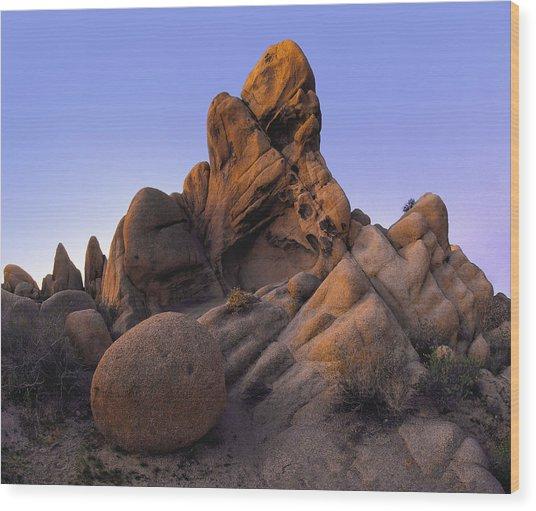Jurassic Rocks Wood Print