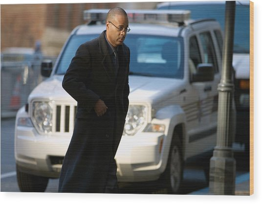 Jury Selection Begins In Trial Of Second Police Officer Involved In Freddie Gray Death Wood Print by Pool