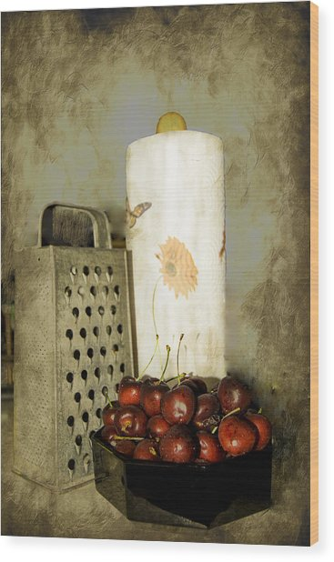 Wood Print featuring the photograph Just A Bowl Of Cherries by Judy Hall-Folde