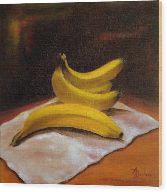 Just Bananas Wood Print