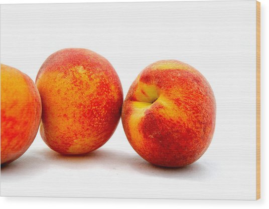 Just Peachy Wood Print by Don Bendickson