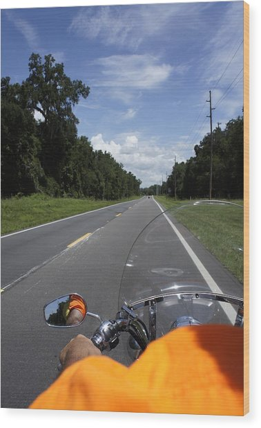 Just Ride Wood Print