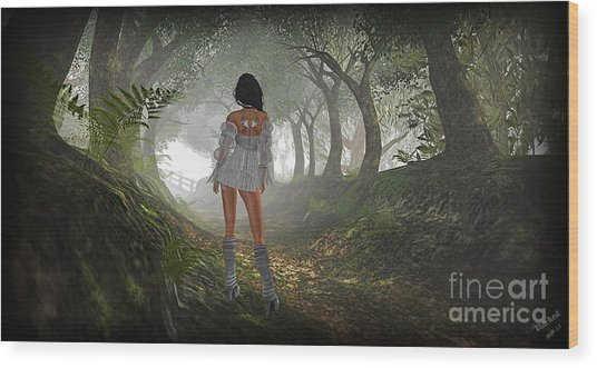 Just Up Ahead Wood Print