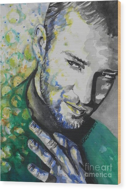 Justin Timberlake...01 Wood Print