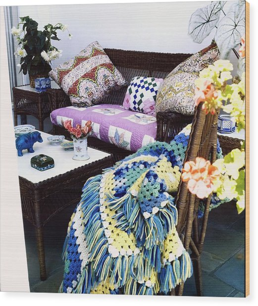 Justine Cushing's Living Room Wood Print