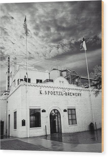 K. Spoetzl Brewery Wood Print