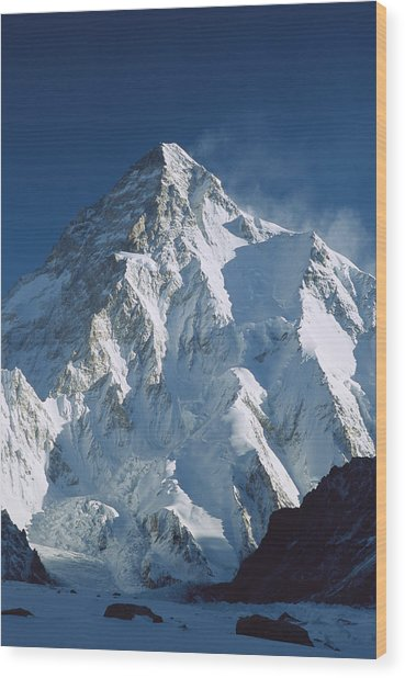K2 At Dawn Pakistan Wood Print