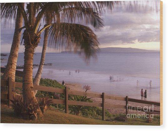 Kai Makani Hoohinuhinu O Kamaole - Kihei Maui Hawaii Wood Print