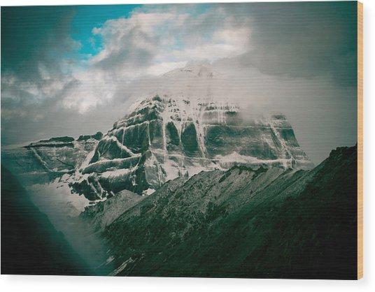 Kailas Mountain Tibet Home Of The Lord Shiva Wood Print