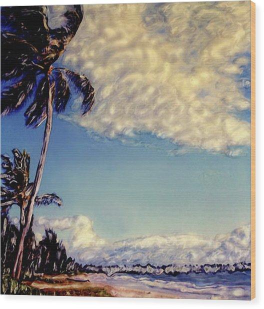 Kailua Beach 1 Wood Print