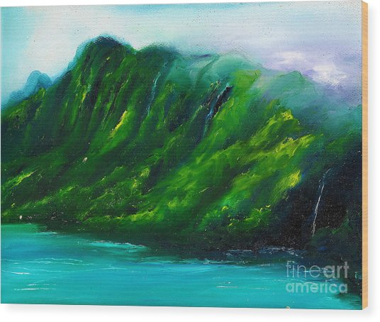 Kailua Hawaii Wood Print