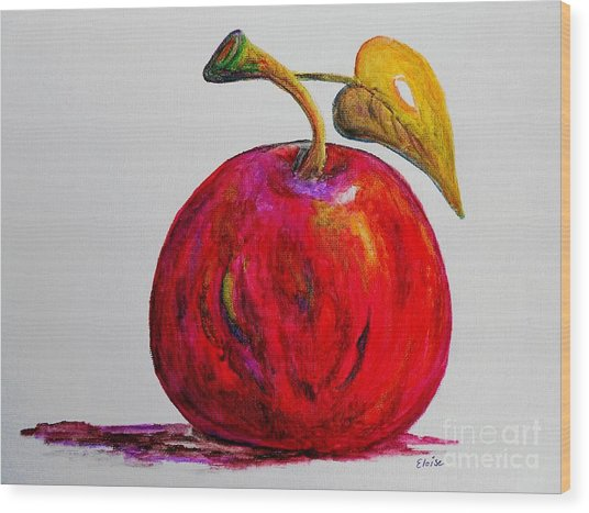 Kaleidoscope Apple -- Or -- Apple For The Teacher  Wood Print
