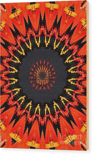 Kaleidoscope Aztec Wood Print