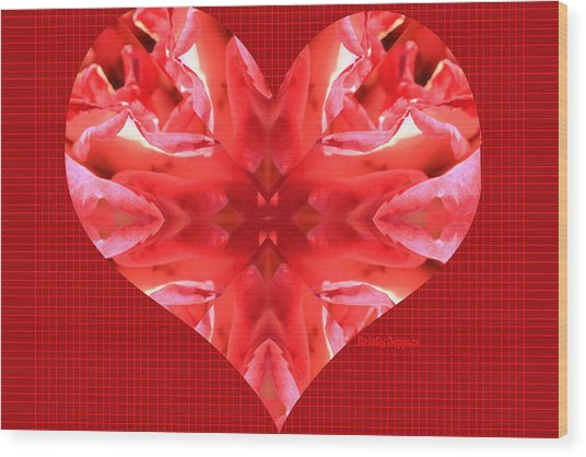 Kaleidoscope Heart Wood Print