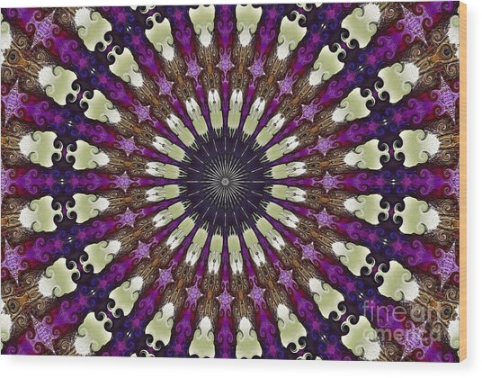 Kaleidoscope Iris Wood Print