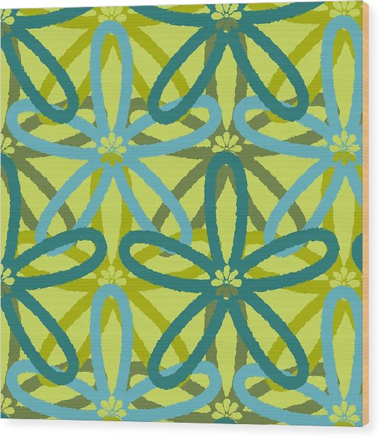 Kaleidoscope Of Flowers Wood Print