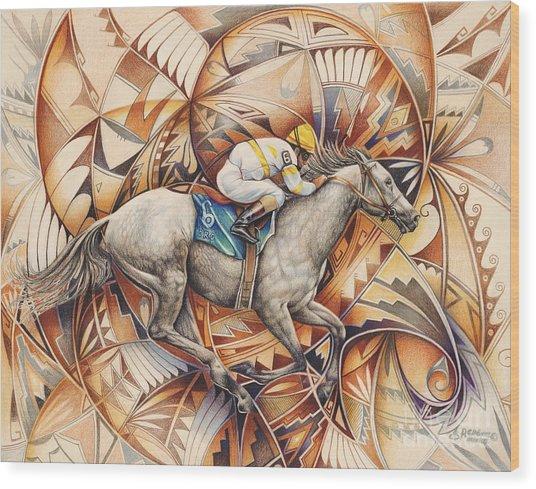 Kaleidoscope Rider Wood Print