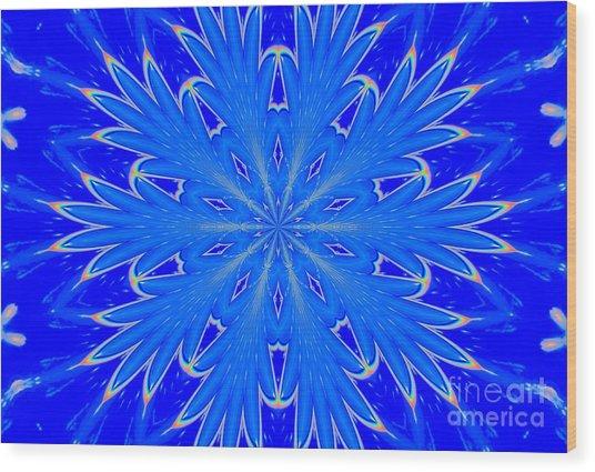 Kaleidoscope Snowflake Wood Print