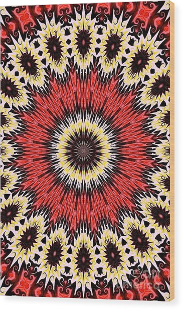 Kaleidoscope Torch Wood Print