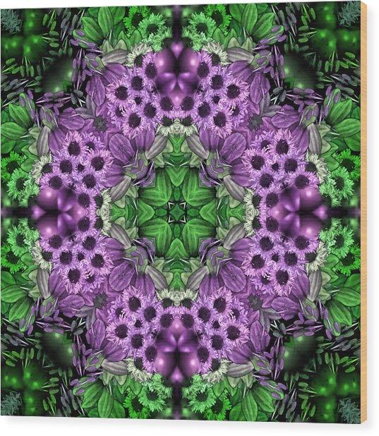 Kaleidoscopic 2 Wood Print by Gabour Demans