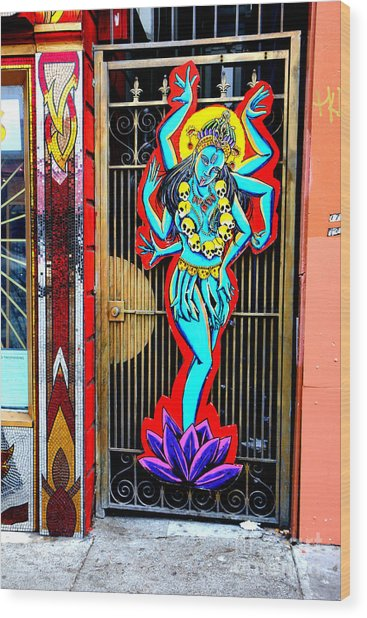 Kali In Color Wood Print