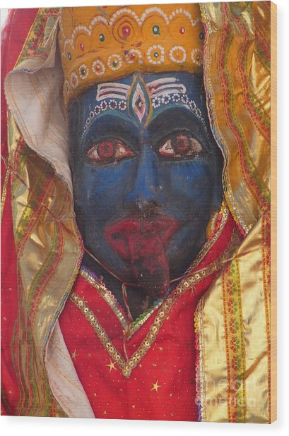 Kali Maa - Glance Of Compassion Wood Print