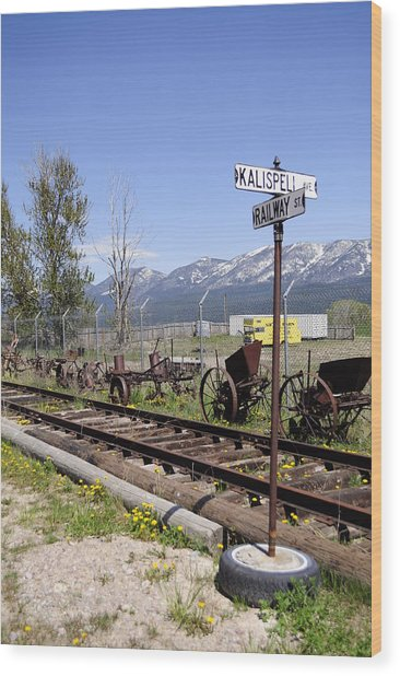 Kalispell Crossing Wood Print