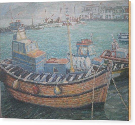 Kalk Bay Harbor Wood Print