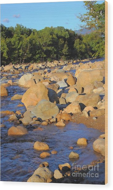 Kancamagus River - New Hampshire Wood Print