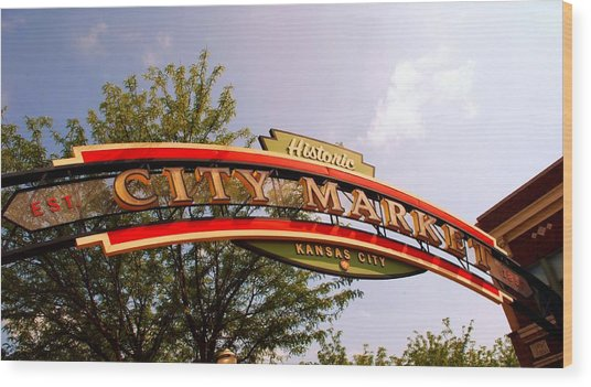 Kansas City Historic City Market Est 1857 Wood Print