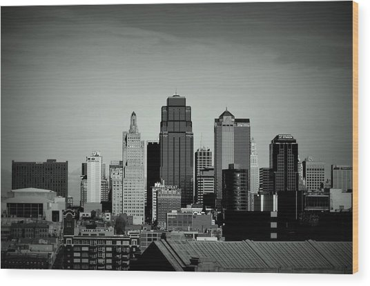 Kansas City  Wood Print