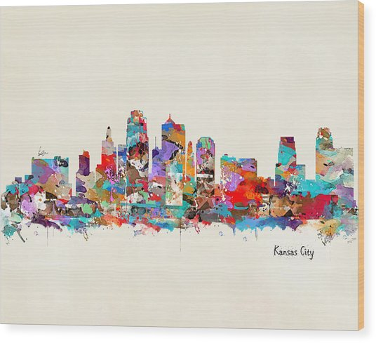 Kansas City Missouri Wood Print