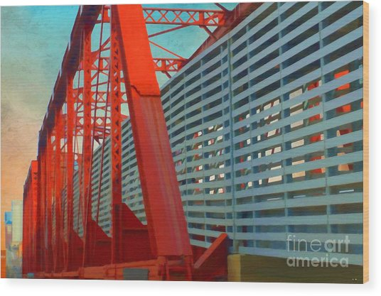 Kansas City Train Bridge - Pencoyd Railroad Bridge  Wood Print