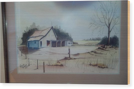 Kansas Farm Wood Print
