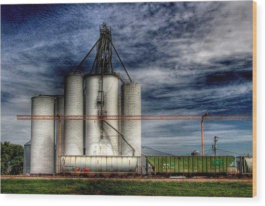 Kansas Grain Wood Print