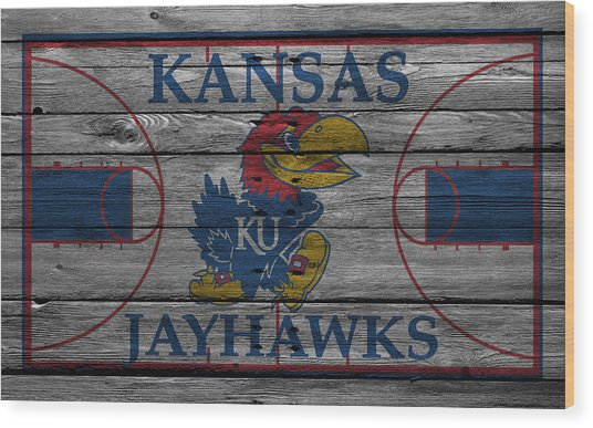 Kansas Jayhawks Wood Print