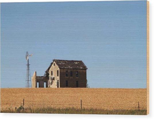 Kansas Landscape Wood Print