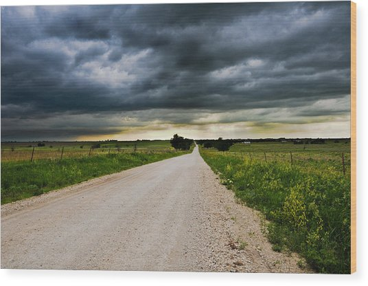Kansas Storm In June Wood Print