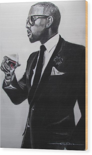 Kanye West - Maga Hat Wood Print