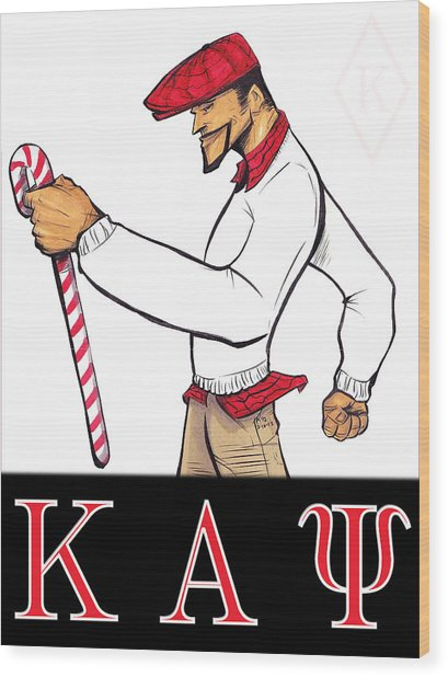 Kappa Alpha Psi Wood Print