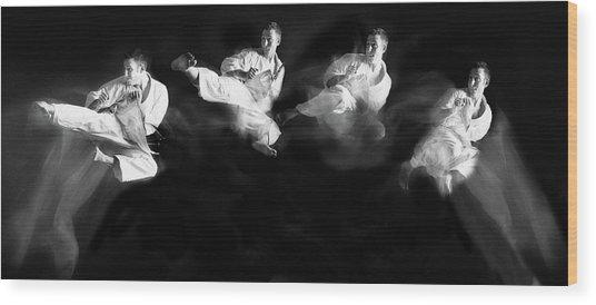 Karate #1 Wood Print by Hilde Ghesquiere