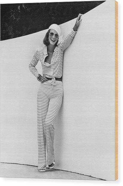 Karen Graham Wearing Diane Von Furstenberg Pajamas By