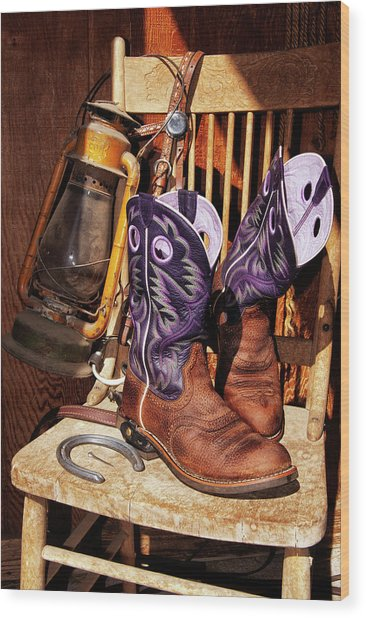 Karen's Cowgirl Gear Wood Print