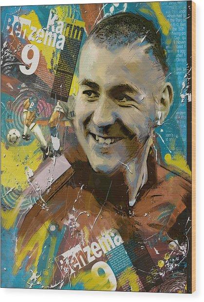 Karim Benzema - B Wood Print