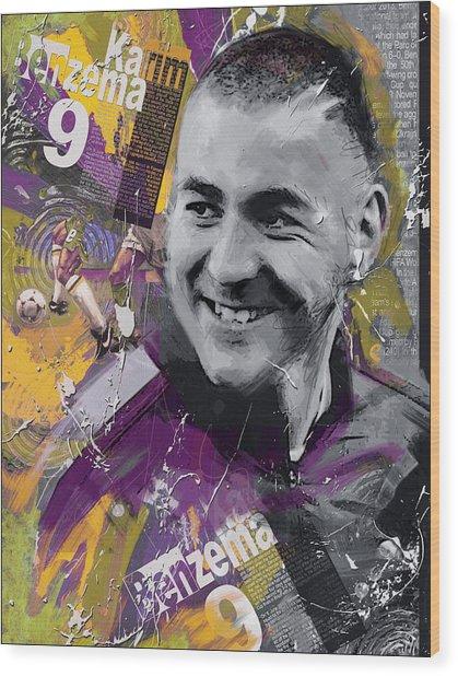 Karim Benzema - C Wood Print