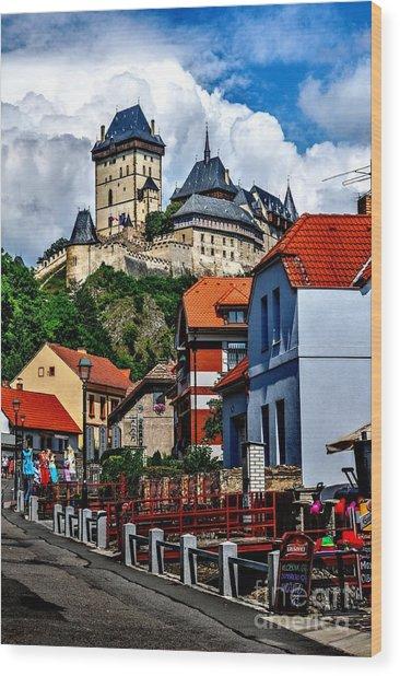 Karlstejn Castle In Prague  Wood Print