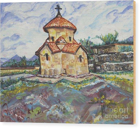 Karmravor Church Vii Century Armenia Wood Print