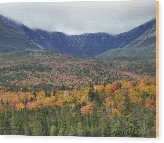 Katahdin Fall Wood Print